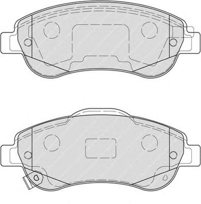FDB4228 Колодки тормозные HONDA CR-V III 07- передние