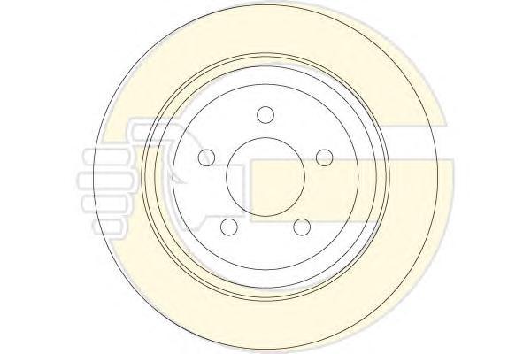 6063414 Диск тормозной JEEP CHEROKEE 10- задний D=316мм.