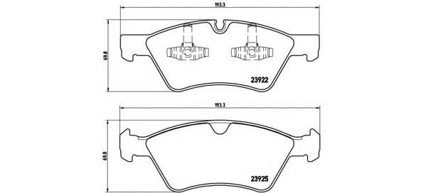 P50063 Колодки тормозные MERCEDES W164 (ML)/X164 (GL)/W211/W251 04 передние