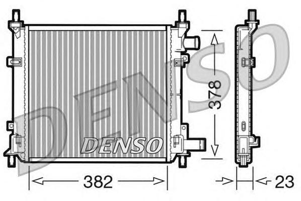 DRM10060 Радиатор охл. ДВС FO Ka 1.2 10.08-, 1.3i -11.08