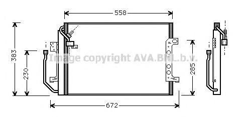 MSA5257 Конденсер MB W168 1.4/1.6/1.9/1.6-1.7 CDI 97-05