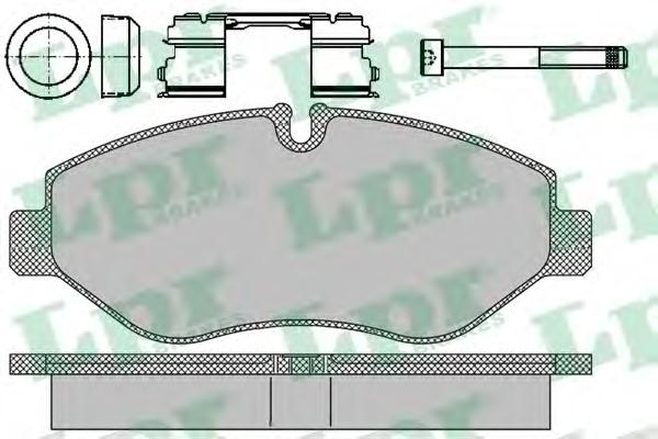 05P1297 Колодки тормозные IVECO DAILY II/III передние