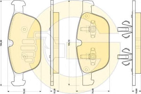 6118212 Колодки тормозные VOLVO XC 60 08- передние
