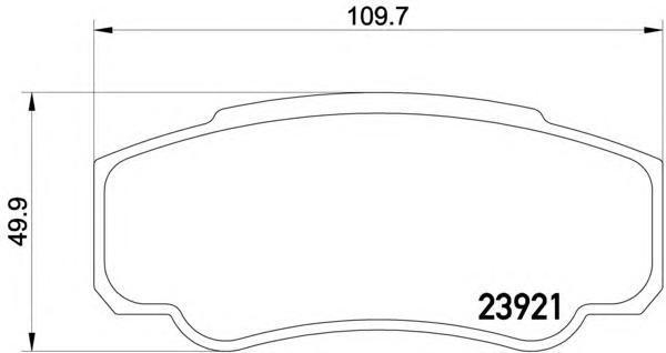 8DB355010411 Колодки тормозные CITROEN JUMPER/FIAT DUCATO/PEUGEOT BOXER (230/244) 94- задние