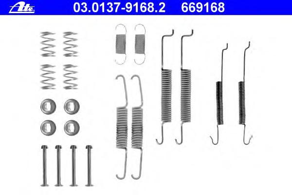 03013791682 Ремкомплект стояночного тормоза AUDI - 80 (89, 89Q, 8A, B3) - 1.8 S