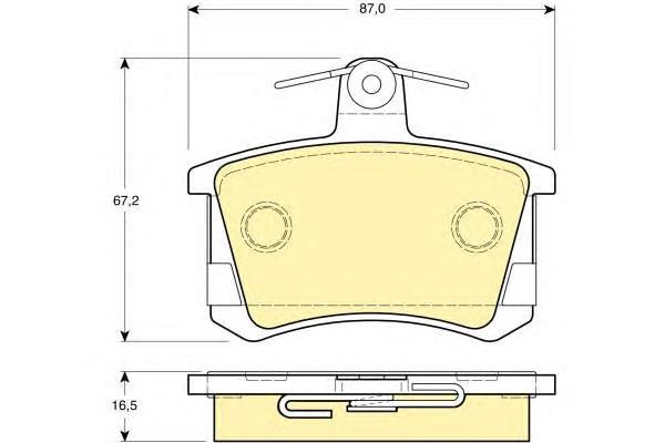 6111631 Колодки тормозные AUDI А100 8295/A4 9597/A6 9597/A8 9499 задние