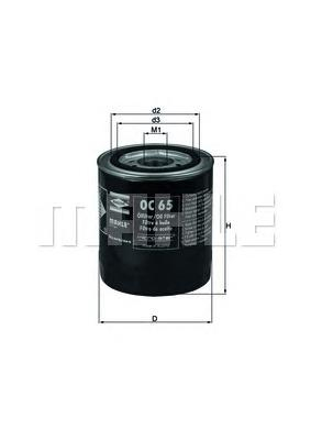 OC65 Фильтр масляный FORD SIERRA/SCORPIO 2.3D/2.5D/FIAT MAREA 2.4D