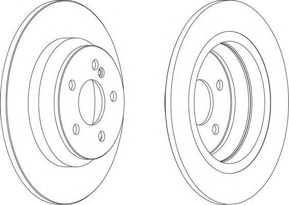 DDF1675 Диск тормозной MERCEDES W220 2.8-3.5 98-05 задний D=300мм.