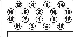 HBS045 Комплект болтов ГБЦ MB 2.0D/2.4D OM615, OM616 78