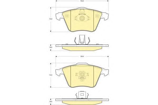 6116072 Колодки тормозные VOLVO S40/V50 1.6-2.5 04- передние