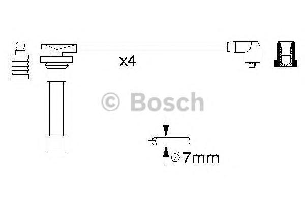 0986356721 Пpовода высоковольтные (комплект)