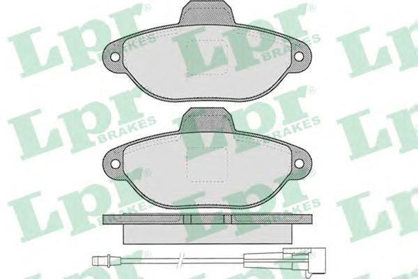 05P462 Колодки тормозные FIAT PUNTO/PANDA 94- передние