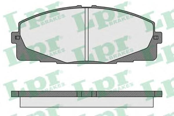 05P1595 Колодки тормозные TOYOTA HIACE 06- передние