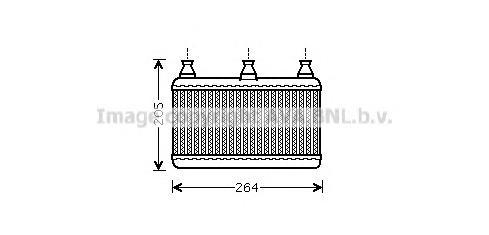 BWA6341 Радиатор отопителя BMW E60/E61/E63/E64 2.0-5.0 03-