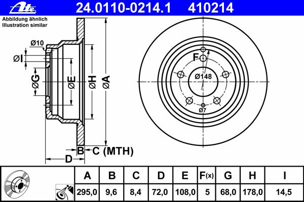 24011002141 Диск тормозной задн, VOLVO: 850 2.0/2.0 Turbo/2.3 T5/2.3 T5-R/2.5/2.5 TDI 91-97, 850 универсал 2.0/2.0 Turbo/2.3 T5/