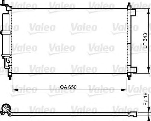 814221 Радиатор кондиционера NISSAN: JUKE 1.6 07.10-10.11