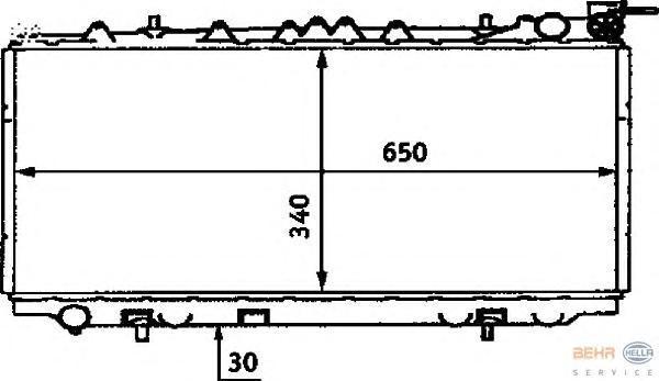 8MK376715571 Радиатор системы охлаждения NISSAN: PRIMERA (P10) 1.6 90-96, PRIMERA Hatchback (P10) 1.6 90-96