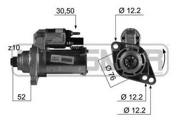 220445 Стартер VAG TSI/FSI 1.4-2.0 03- 1.1к.Вт.