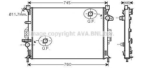 FD2421 Радиатор системы охлаждения FORD: GALAXY 1.8 TDCi/2.0/2.0 TDCi 06 - , S-MAX 1.8 TDCi/2.0/2.0 Flexifuel/2.0 TDCi 06 -