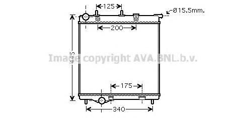 PE2288 Радиатор CITROEN C3 / PEUGEOT 207/208 1.0-1.6/1.4D/1.6D 06-