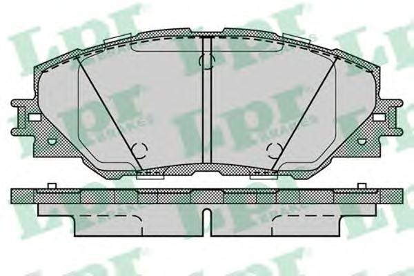 05P1282 Колодки тормозные TOYOTA RAV 4 05 передние