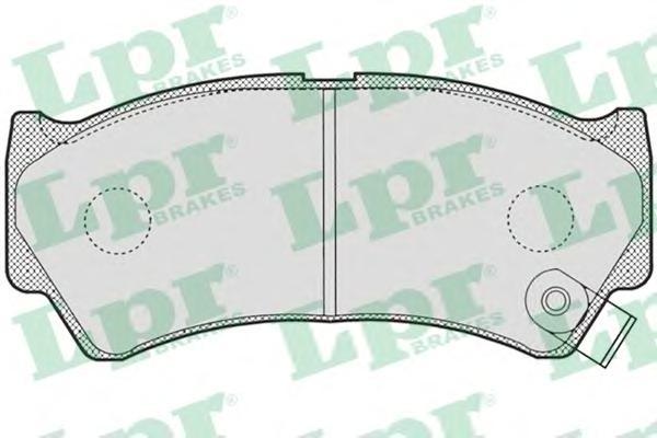 05P778 Колодки тормозные дисковые передн SUZUKI: BALENO 98-02, BALENO хечбэк 98-02, BALENO универсал 98-02