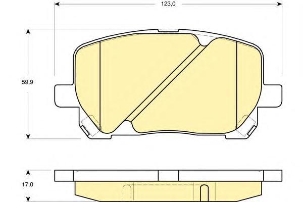 6133159 Колодки тормозные TOYOTA AVENSIS VERSO 2.0/2.0D 01- передние