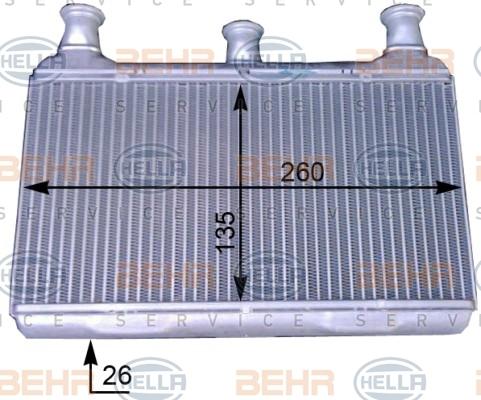 8FH351312161 Радиатор отопителя BMW E60/E61/E63/E64 2.0-5.0 03-
