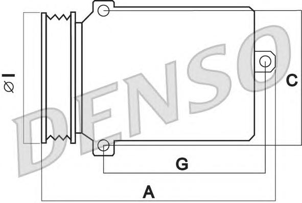 DCP17039 Компрессор кондиционера MB W203/211 2.4-5.0