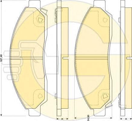 6134669 Колодки тормозные ISUZU D-MAX 02- передние