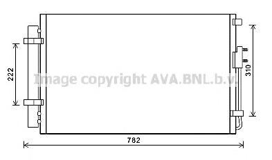 HY5344 Конденсер HYUNDAI SANTA FE 2.4 A/T 12-