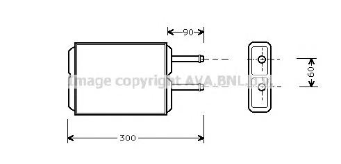 MZ6124 Радиатор отопителя MAZDA 626 1.8-2.5 92-