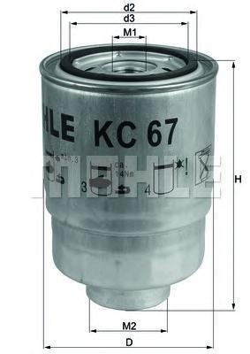 KC67 Фильтр топливный NISSAN X-TRAIL/PRIMERA/PATHFINDER 2.2-4.2 DCI