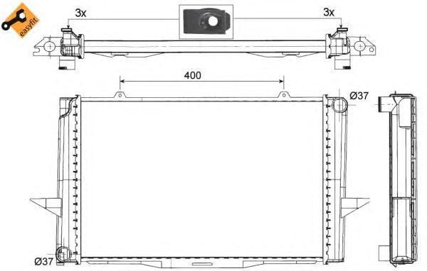 509509 Радиатор VO 850, S70, V70