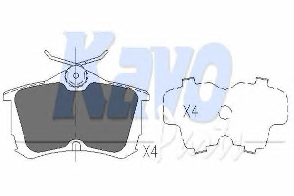 KBP2011 Колодки тормозные HONDA ACCORD 2.0/2.2/2.4 98 задние
