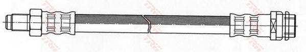 PHB447 Шланг тормозной MB W202/210/220 380мм зад.