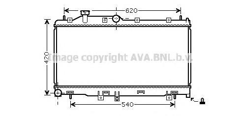 SU2065 Радиатор SUBARU LEGACY/OUTBACK 2.0-3.0 A/T 03-09