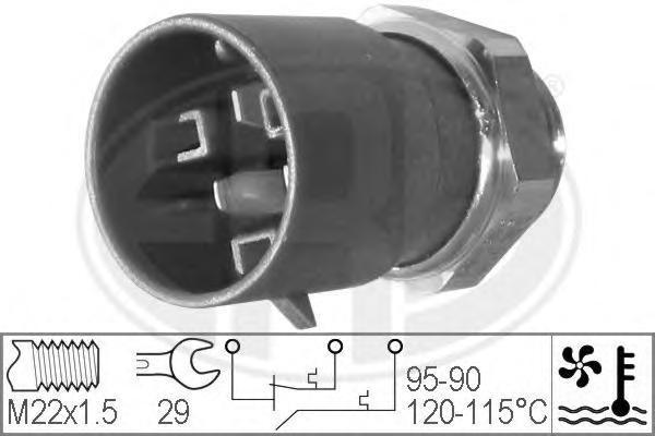 330223 Датчик включения вентилятора HOLDEN: ASTRA Наклонная задняя часть (TR) 2.0 GSi 95-98 OPEL: ASTRA F (56, 57) 1.4/1.4 Si/1.