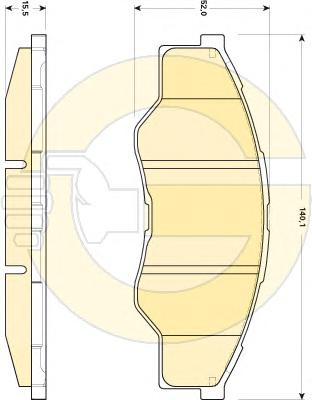 6135009 Колодки тормозные TOYOTA HILUX 06- передние