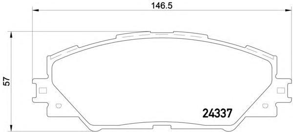 8DB355006871 Колодки тормозные TOYOTA RAV 4 05 передние