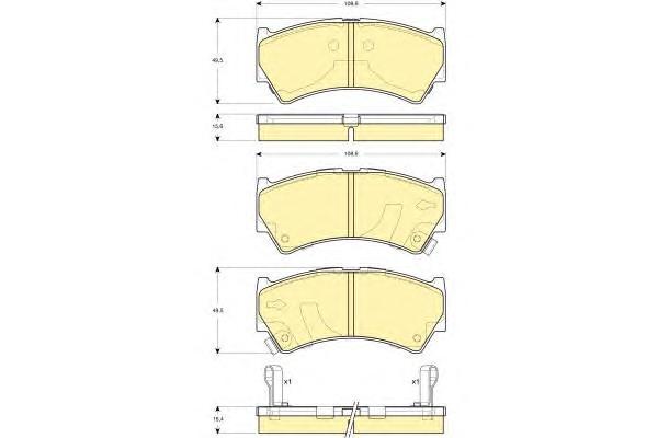 6132759 Колодки тормозные SUZUKI BALENO 95-02 передние
