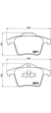 P86019 Колодки тормозные VOLVO XC90 2.4-4.4 02- задние