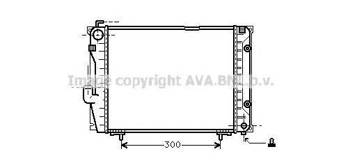 MSA2069 Радиатор MB W124 2.6/3.2 85-94