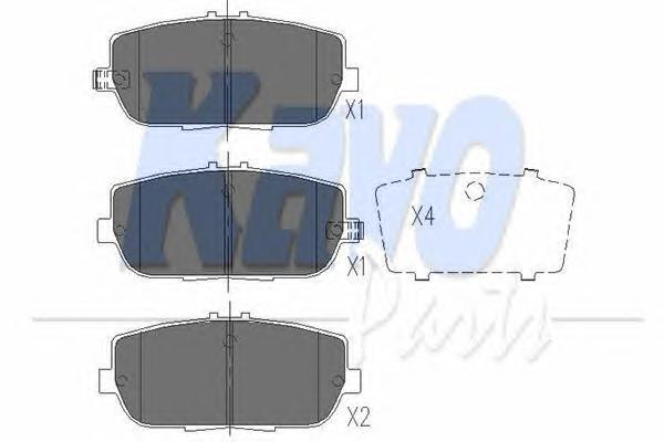KBP4551 К-т торм. колодок Re Mazda MX-5 III 05-