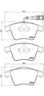 P85081 Колодки тормозные VOLKSWAGEN T5/MULTIVAN 03 R16 передние