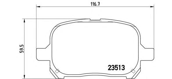 P83040 Колодки тормозные TOYOTA CAMRY/PREVIA 2.2-3.0 96-/LEXUS RX300 00-03 передние