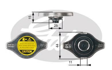 RC127 Крышка радиатора LEXUS/MAZDA/MITSUBISHI/TOYOTA 0.9 BAR