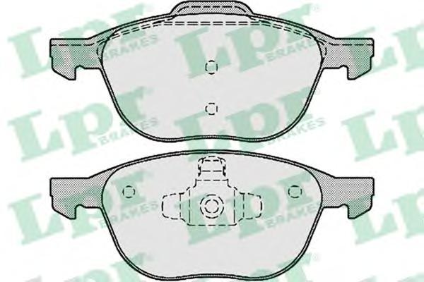 05P1190 Колодки тормозные FORD FOCUS II 04-/III 10-/MAZDA 3 03-/VOLVO S40 04- передние