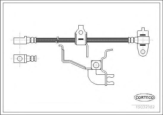 19032982 Шланг тормозной FORD: TRANSIT c бортовой платформой 2.4 DI 00-06, TRANSIT фургон 2.0 DI/2.0 TDCi/2.3 16V RWD/2.4 DI/2.4