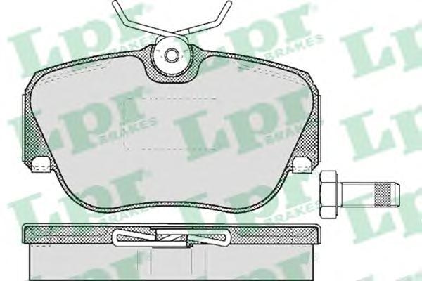 05P302 Колодки тормозные MERCEDES W201 8293 передние
